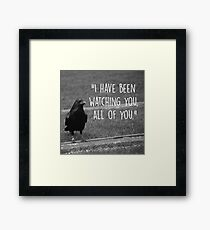 Three Eyed Raven Quote Framed Print