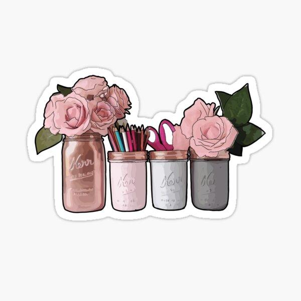 Mason Jars and Roses Sticker