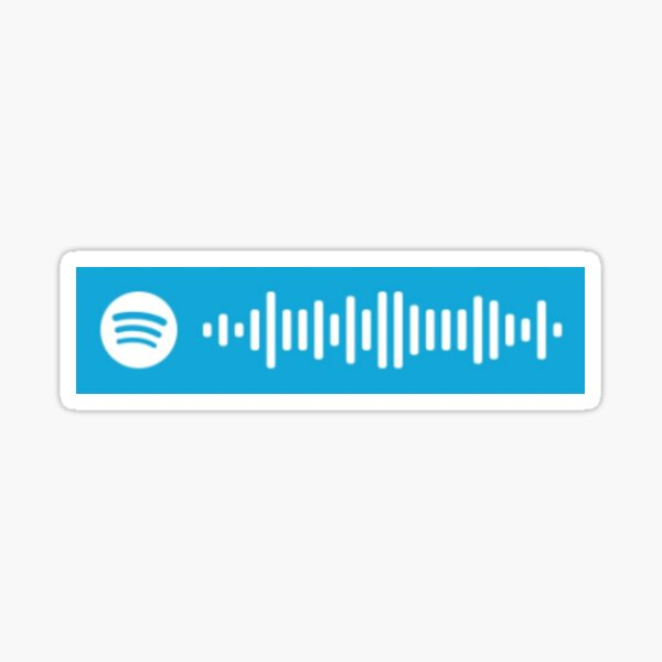 buddy holly - weezer song spotify scan code Sticker