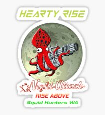 Hearty Rise Night Attack By The Moon Light Sticker