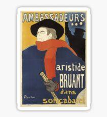 Toulous Lautrec Poster - Ambassadeurs Sticker