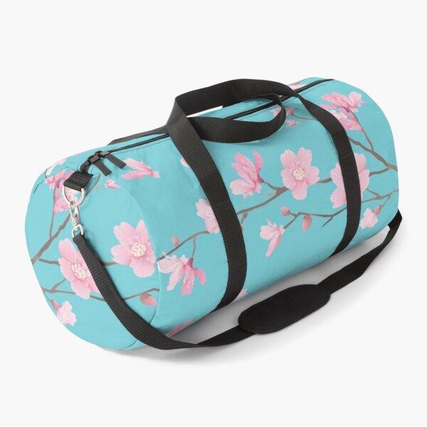 Cherry Blossom - Robin Egg Blue Duffle Bag