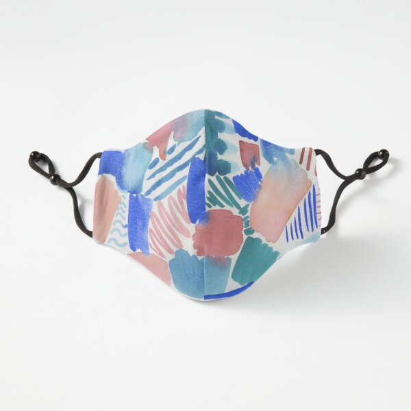 fun abstract pattern blue coral and green Fitted 3-Layer