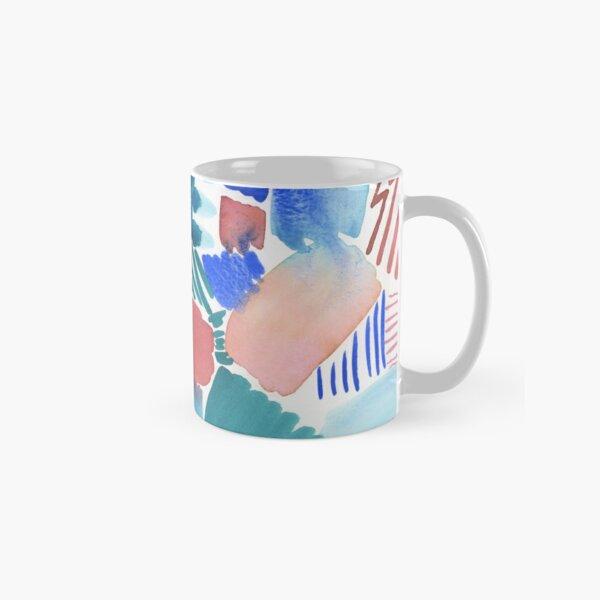 fun abstract pattern blue coral and green Classic Mug