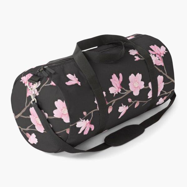 Cherry Blossom - Black Duffle Bag