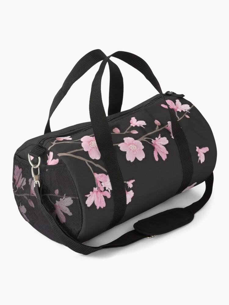 Alternate view of Cherry Blossom - Black Duffle Bag