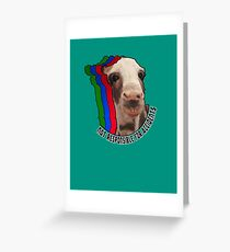 Face of Danger Greeting Card