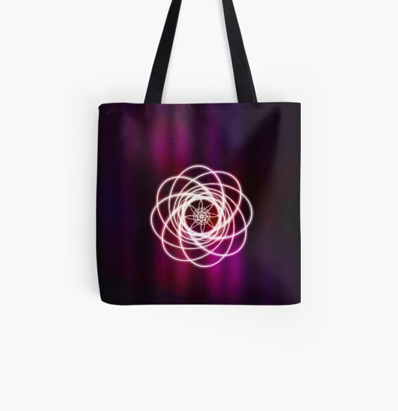 Curtain Curl All Over Print Tote Bag