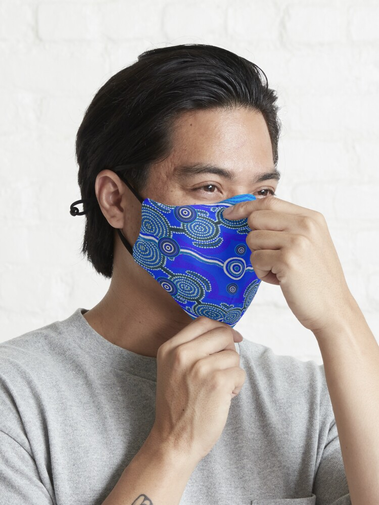 Alternate view of Ocean Stone Abstract Mask