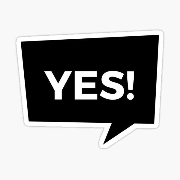 Yes! Sticker