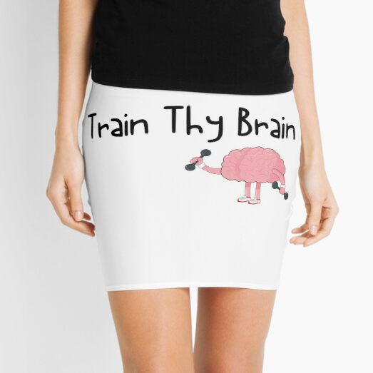 Train Thy Brain Funny Mental Health Awareness Mini Skirt
