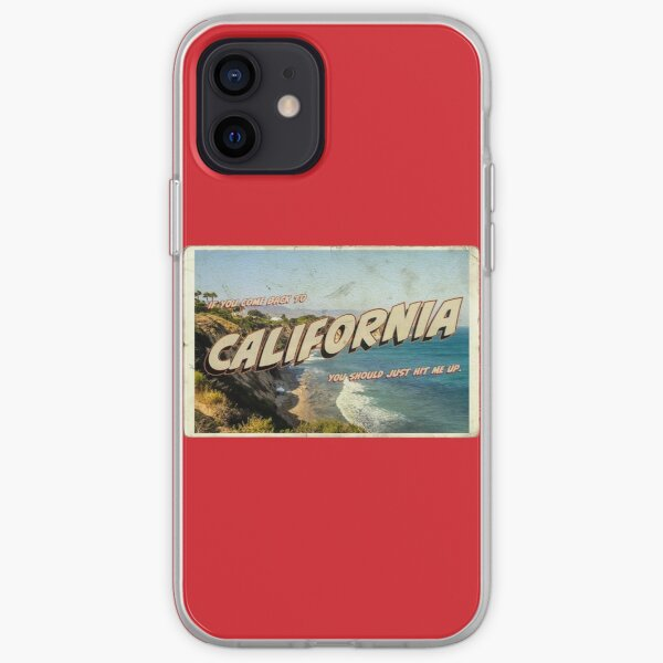 California Postcard - Lana Del Rey - NFR! iPhone Soft Case
