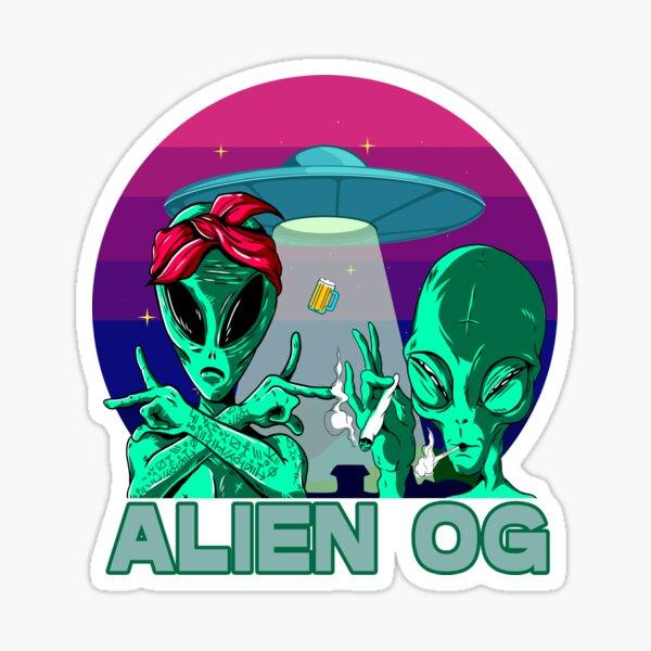 Cannabis Strains Alien OG Sticker