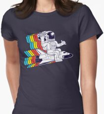 funky astronaut Women's Fitted T-Shirt