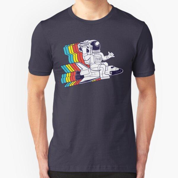 funky astronaut Slim Fit T-Shirt
