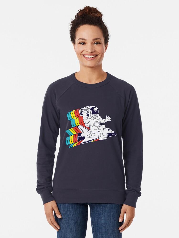 Alternate view of funky astronaut Lightweight Sweatshirt