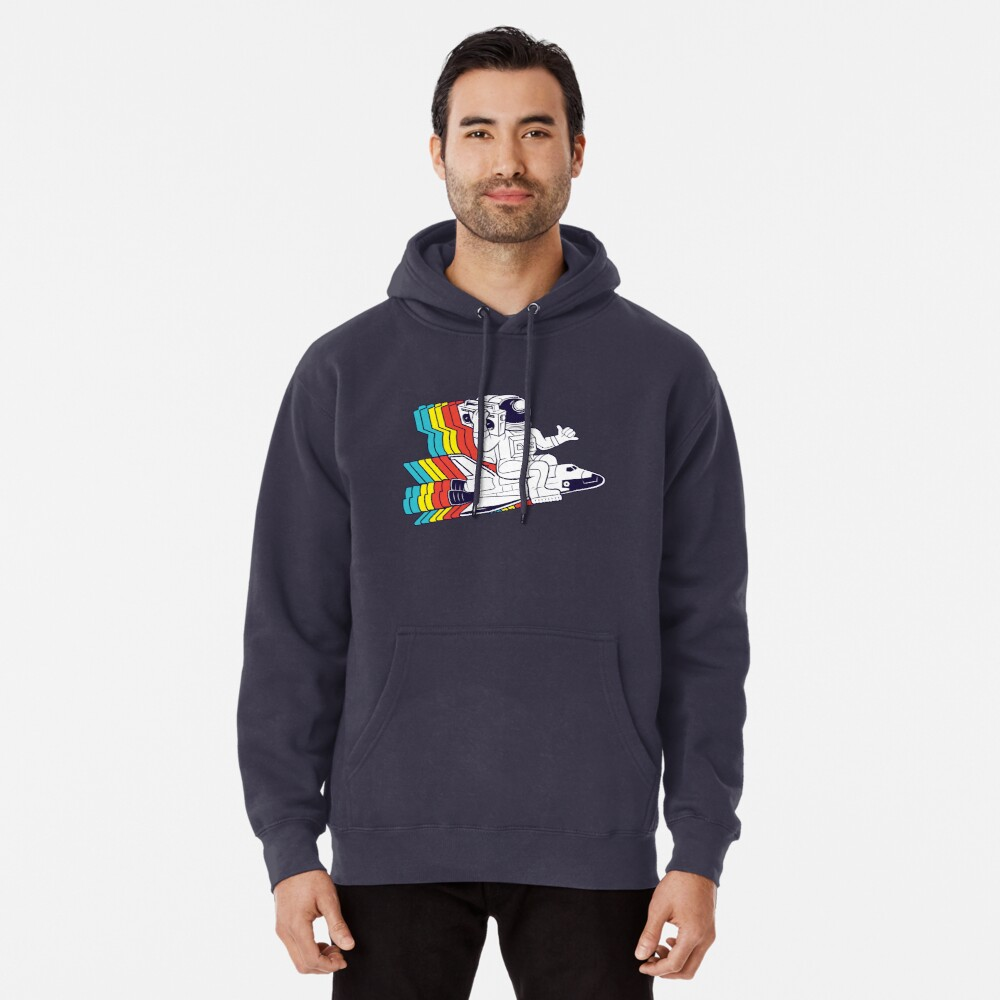 funky astronaut Pullover Hoodie