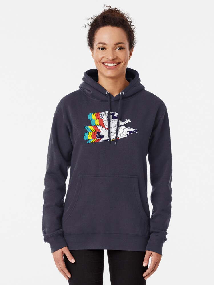 Alternate view of funky astronaut Pullover Hoodie