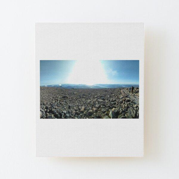 The summit panorama - Ben Nevis, Highlands of Scotland Wood Mounted Print