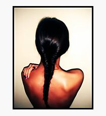 Brunette Back Braid Photographic Print