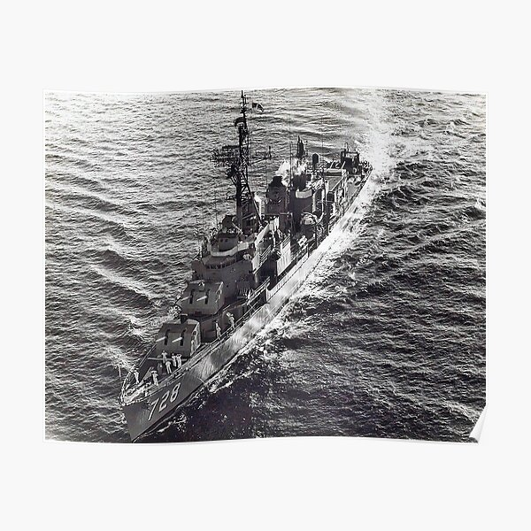 USS MANSFIELD (DD-728) SHIP'S STORE Poster