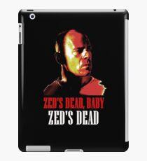 Zed is Dead - for dark shirts iPad Case/Skin