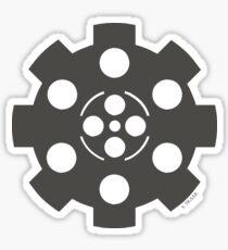 Gear - Grey on Black Sticker