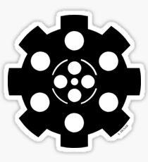 Gear - Black on White Sticker