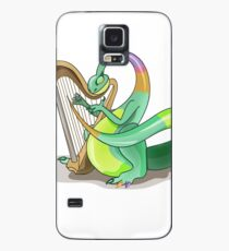 Illustration of a Plateosaurus playing the harp. Case/Skin for Samsung Galaxy