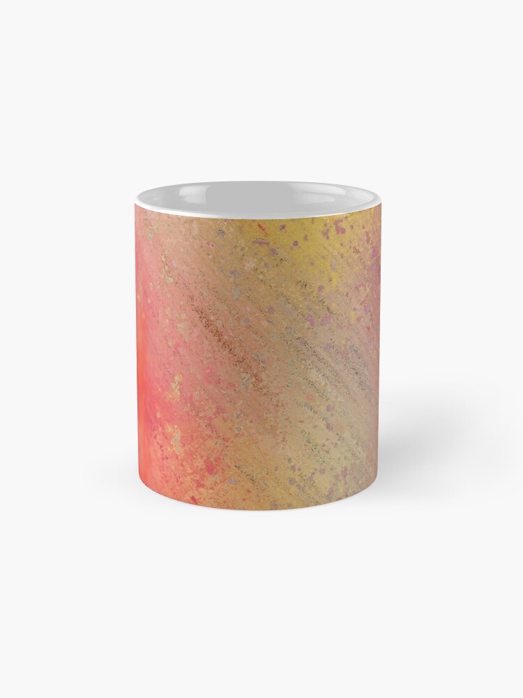 Alternate view of Warm Scratched-Metal Mask Abstraction Mug