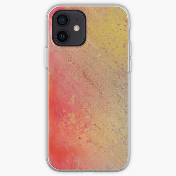 Warm Scratched-Metal Mask Abstraction iPhone Soft Case