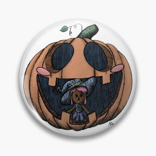 Halloween Pumpkin Witch Pin