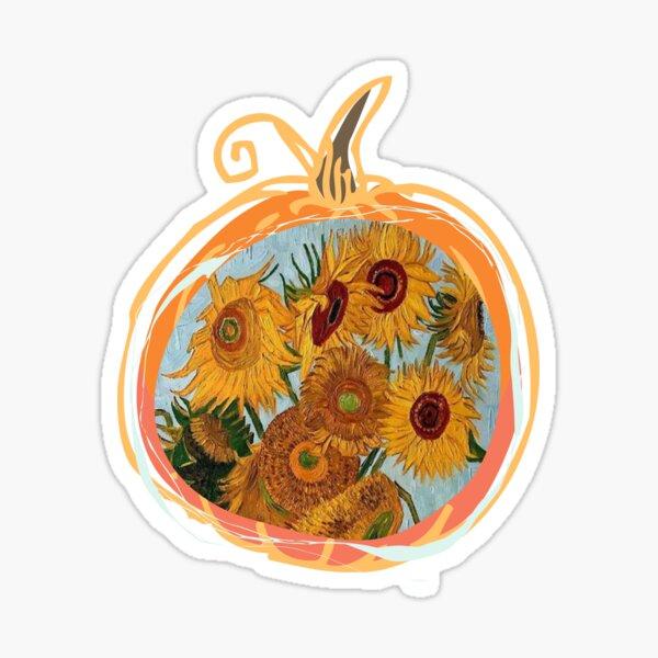 Sunflowers Vincent Van Gogh Fall Pumpkin Sticker