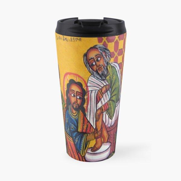 Ethiopian Orthodox Christian Icon Christ Washing Feet Travel Mug