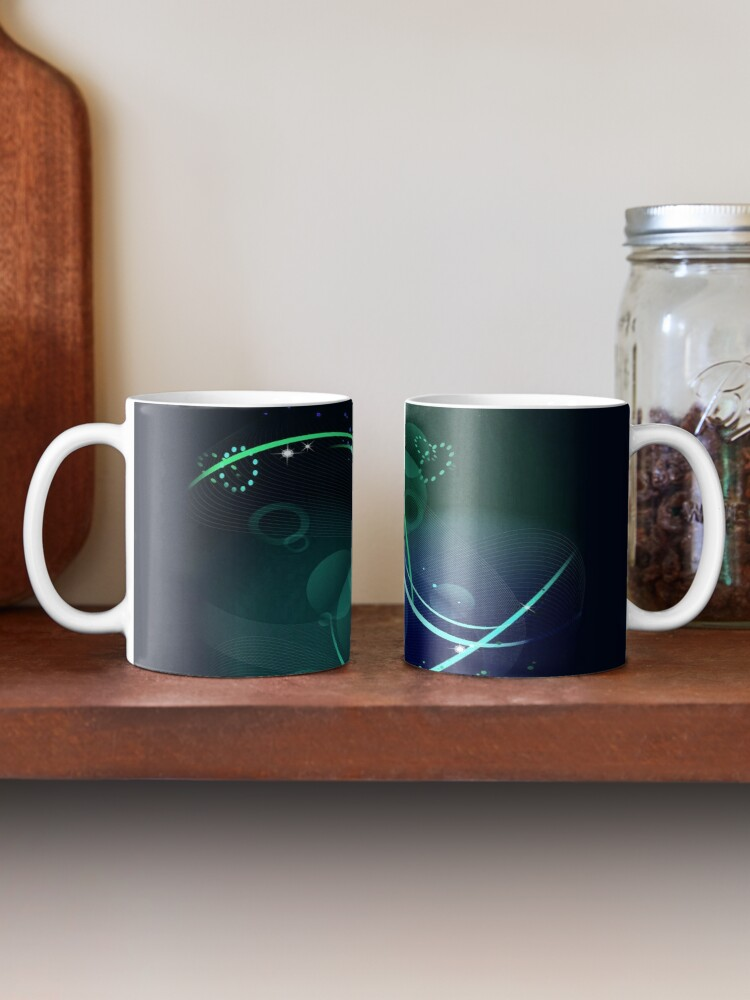 Alternate view of Swooping Dreamy Mask Abstraction Mug