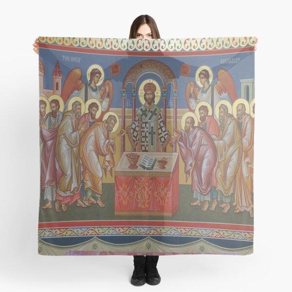 Icono cristiano ortodoxo la Sagrada Eucaristía Pañuelo