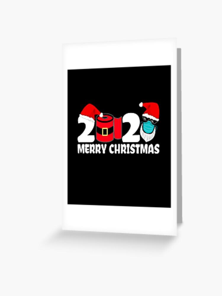 Santa Toilet Rolls 2020 Crisis Santa Knows Funny Corona Lockdown Christmas Card