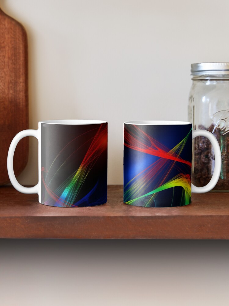 Alternate view of Brilliant Colorful Mask Abstraction Mug