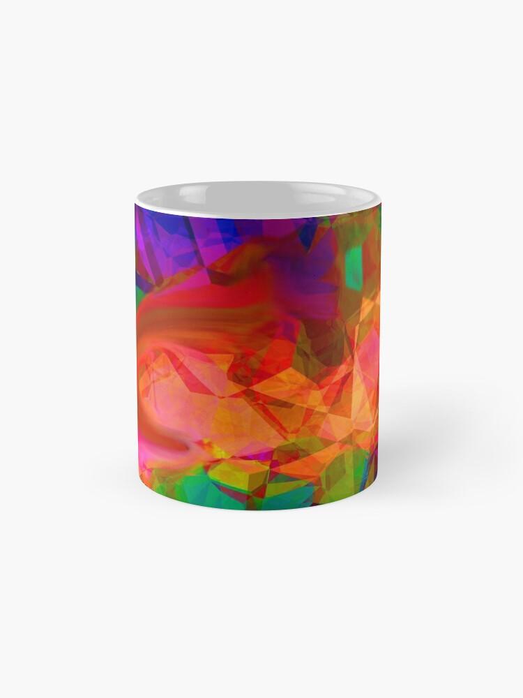 Alternate view of Stark Crystaline Color-Burst Mask Abstraction Mug