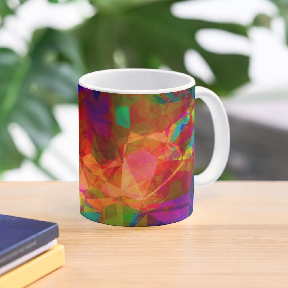 Stark Crystaline Color-Burst Mask Abstraction Mug