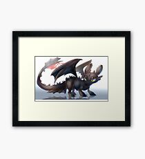How to train your dragon - Toothless Framed Print