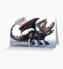 How to train your dragon - Toothless Greeting Card