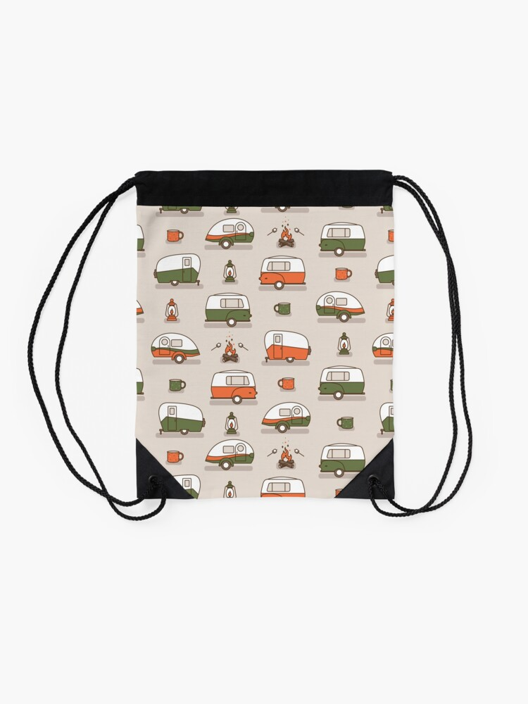 Alternate view of Happy Camper Drawstring Bag