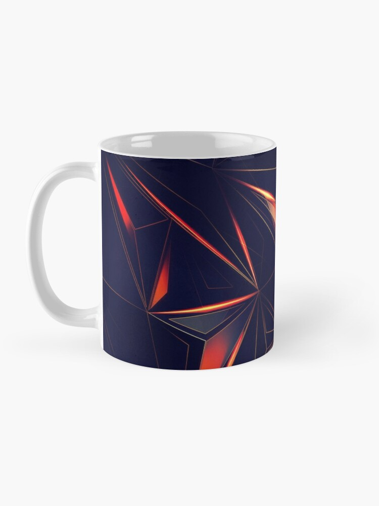 Alternate view of Spacey Crystalline Mask Abstraction Mug