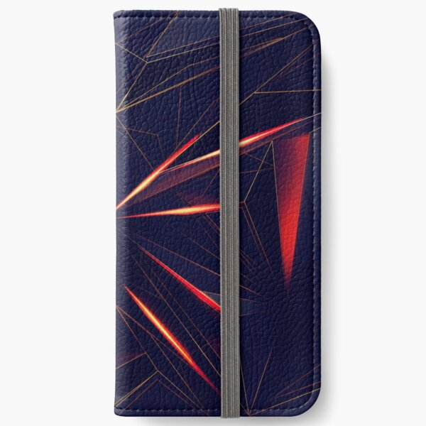 Spacey Crystalline Mask Abstraction iPhone Wallet