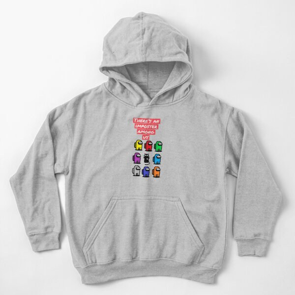 There's an imposter among us cat design Kids Pullover Hoodie
