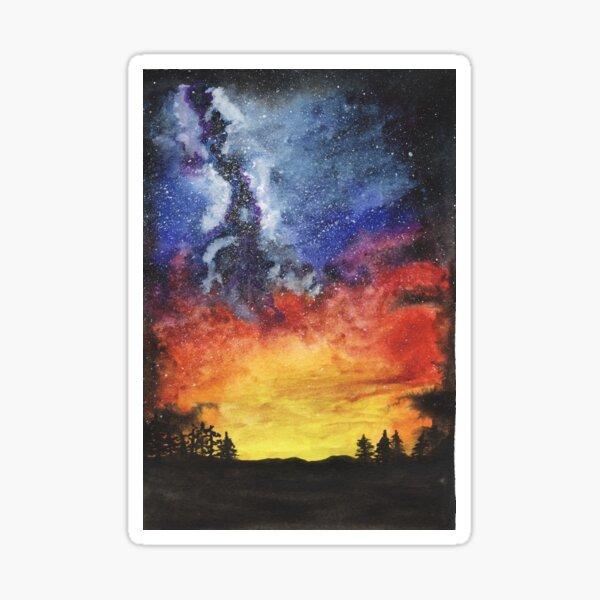 Sunset Galaxy Sticker