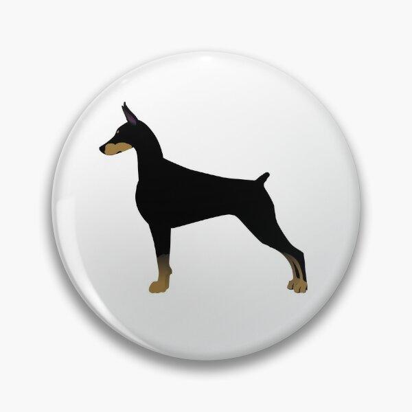 Doberman Pinscher Basic Breed Silhouette Pin