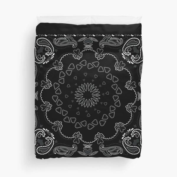 Black Bandanna Duvet Cover