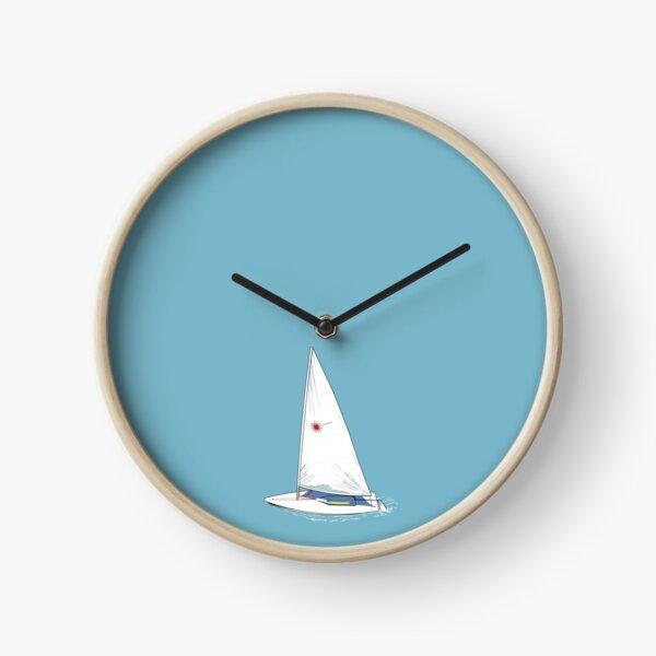 Laser Sailing No Numbers Clock